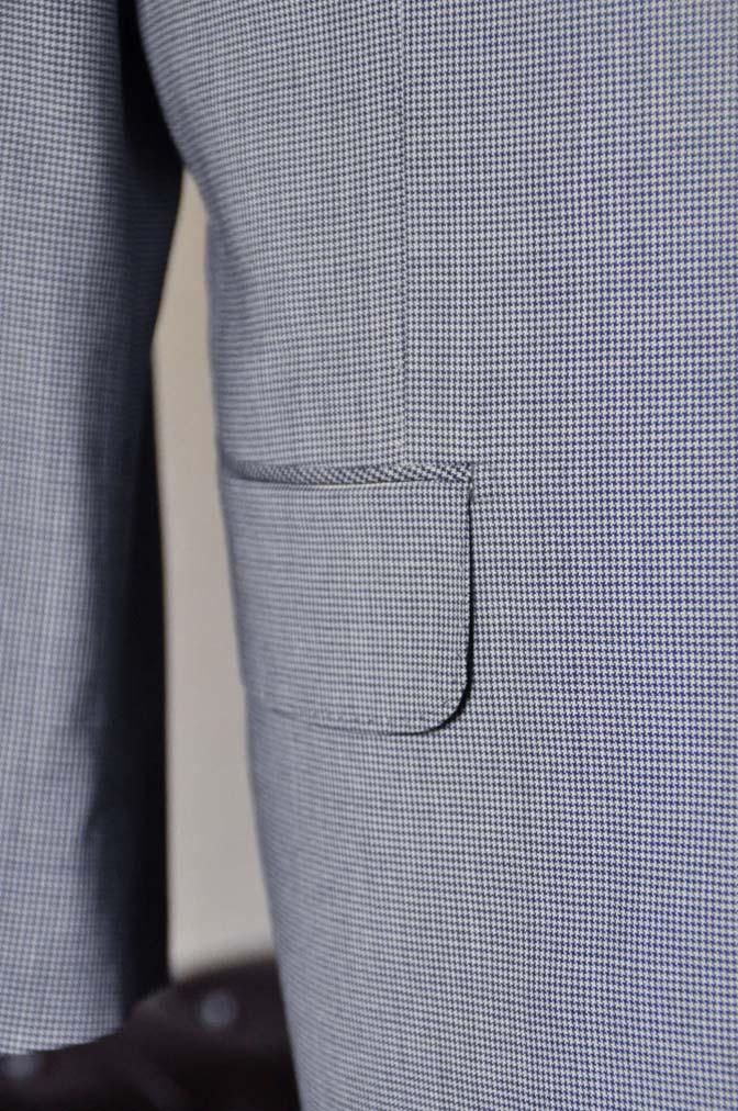 DSC0665-2 お客様のスーツの紹介- Biellesi ネイビ千鳥格子スリーピース-