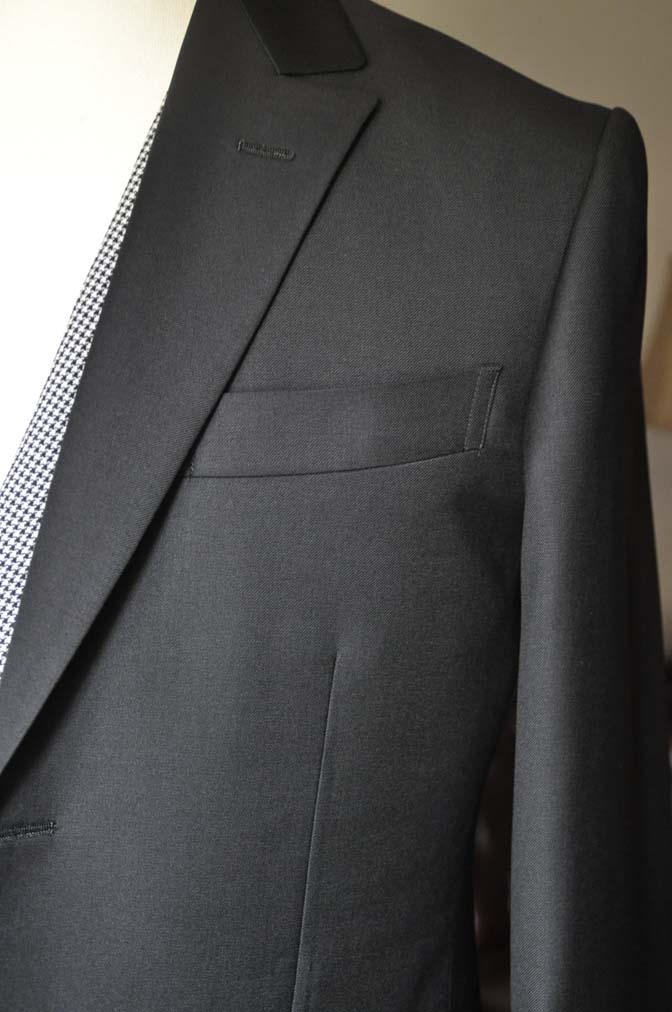 DSC0665-3 お客様のウエディング衣装の紹介-CANONICO ブラックスーツ 千鳥格子襟付きダブルベスト-