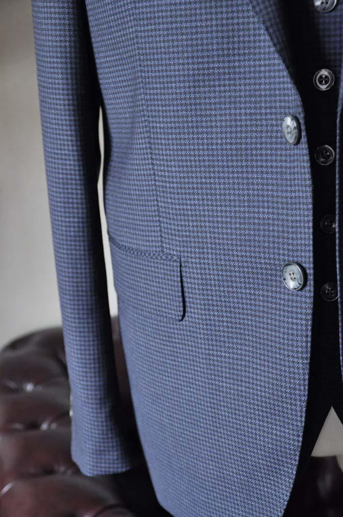 DSC0665-5 お客様のスーツの紹介-Biellesiネイビー千鳥格子スリーピース- 名古屋の完全予約制オーダースーツ専門店DEFFERT