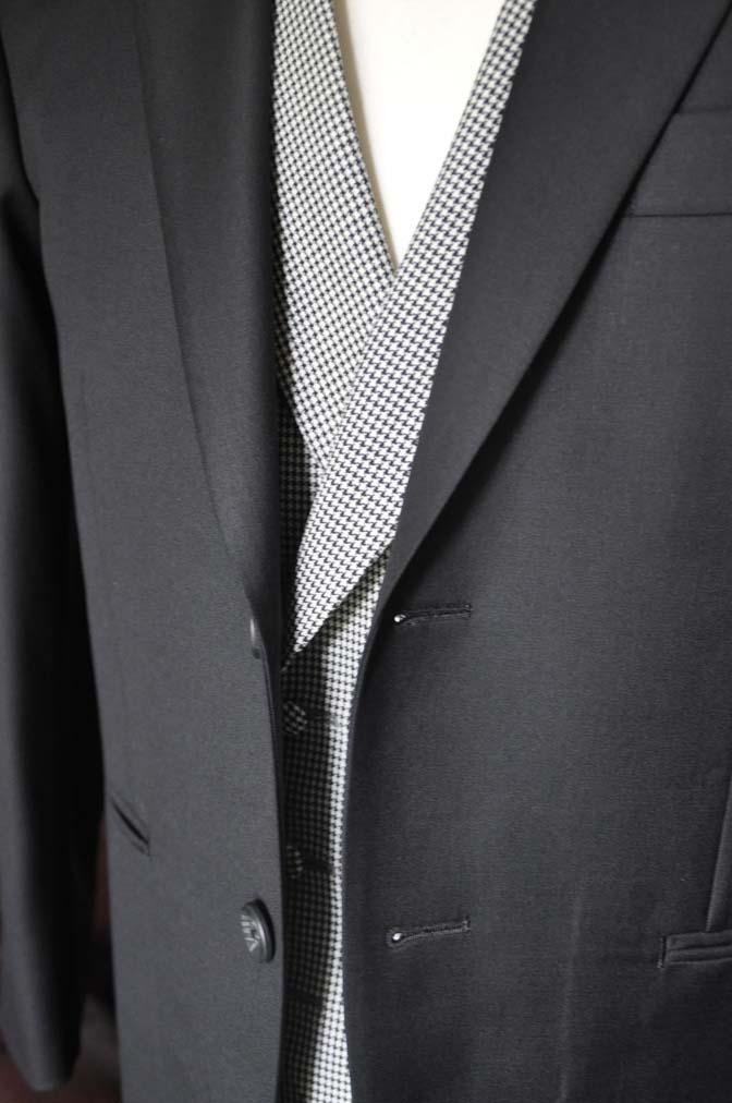 DSC0666-3 お客様のウエディング衣装の紹介-CANONICO ブラックスーツ 千鳥格子襟付きダブルベスト-