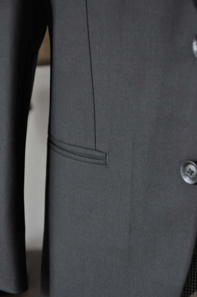 DSC0668-3 お客様のウエディング衣装の紹介-CANONICO ブラックスーツ 千鳥格子襟付きダブルベスト-