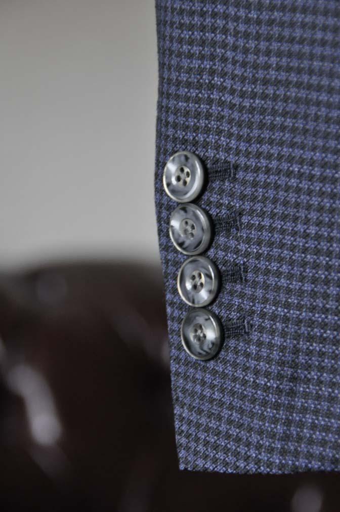 DSC0668-5 お客様のスーツの紹介-Biellesiネイビー千鳥格子スリーピース- 名古屋の完全予約制オーダースーツ専門店DEFFERT