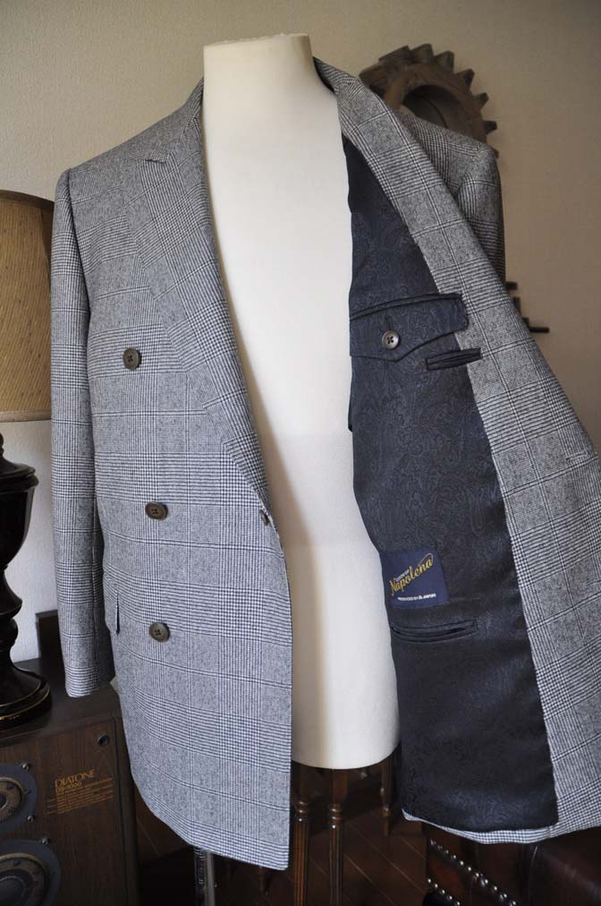 DSC0671-2 お客様のスーツの紹介-御幸毛織Napolena グレンチェック ダブルスーツ-