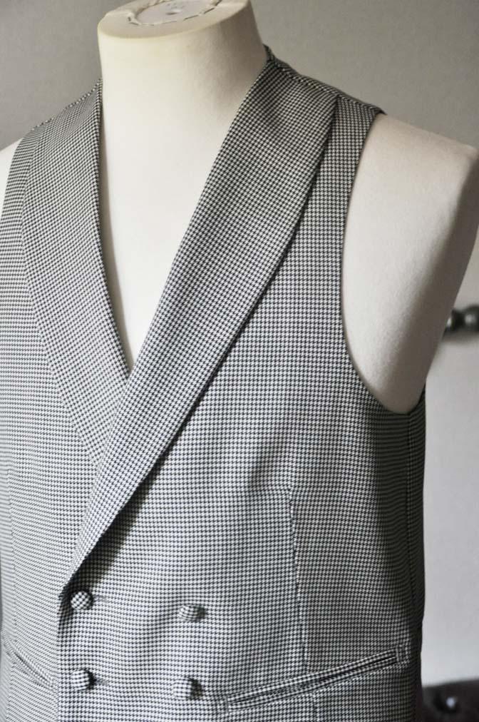 DSC0672-1 お客様のウエディング衣装の紹介-CANONICO ブラックスーツ 千鳥格子襟付きダブルベスト-