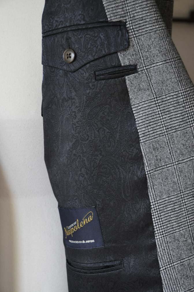 DSC0672-2 お客様のスーツの紹介-御幸毛織Napolena グレンチェック ダブルスーツ-