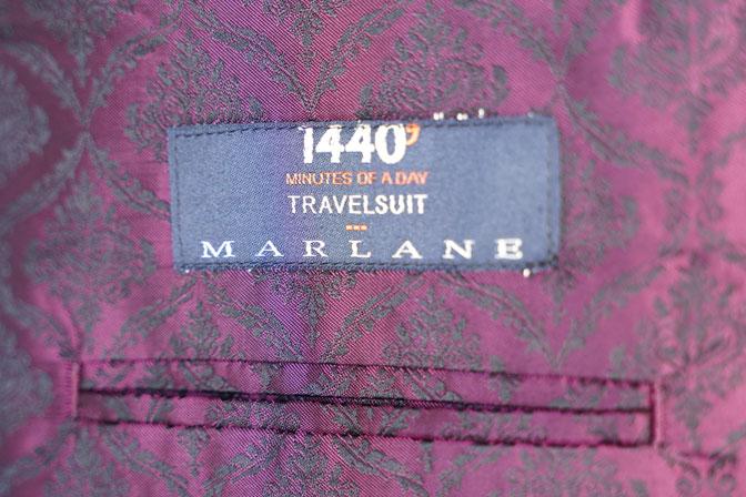 DSC06728 オーダースーツの紹介-MARLANEブラウン千鳥格子スーツ-