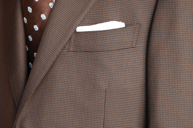 DSC06731-1 オーダースーツの紹介-MARLANEブラウン千鳥格子スーツ-