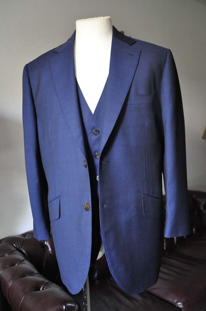DSC0675-1 お客様のスーツの紹介- Biellesi ネイビーストライプスリーピース-