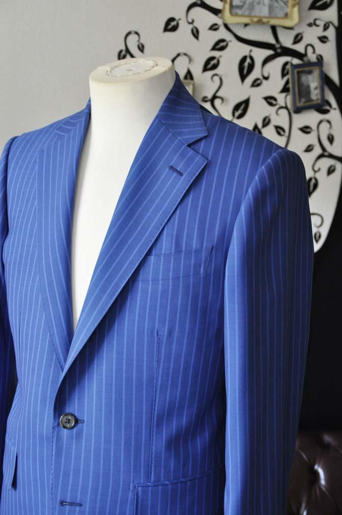DSC0675-3 お客様のスーツの紹介-DORMEUIL ネイビーストライプ-