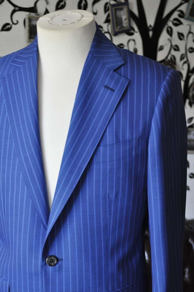 DSC0676-4 お客様のスーツの紹介-DORMEUIL ネイビーストライプ-
