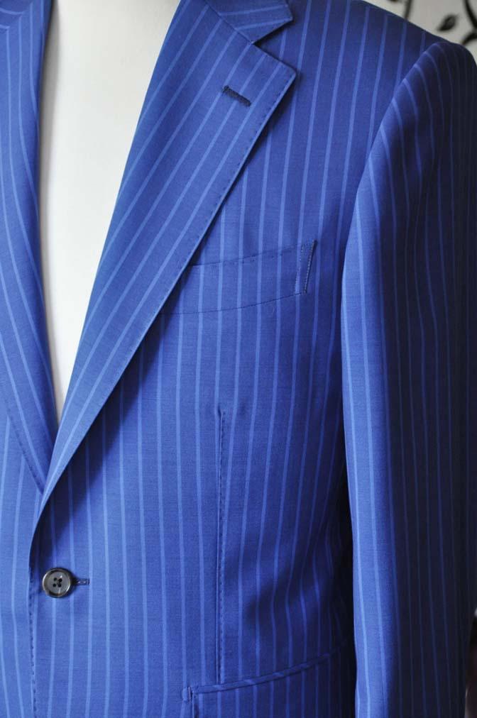 DSC0677-4 お客様のスーツの紹介-DORMEUIL ネイビーストライプ-