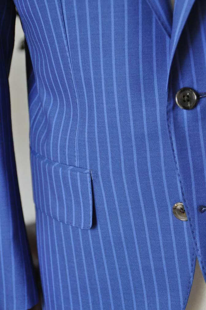 DSC0679-3 お客様のスーツの紹介-DORMEUIL ネイビーストライプ-
