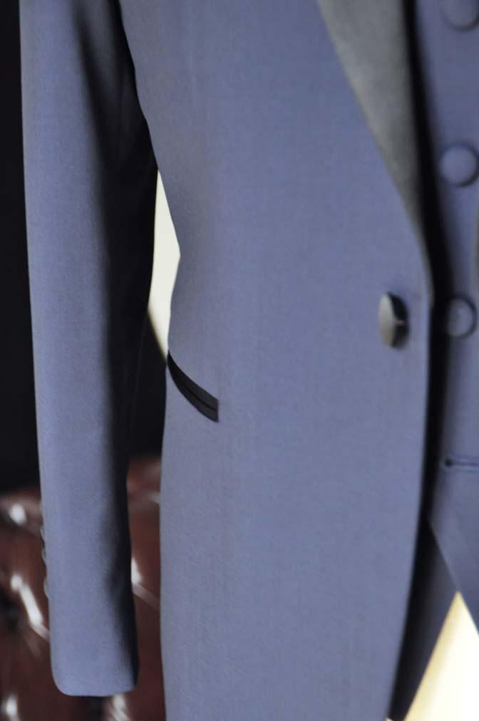 DSC0680-3 お客様のタキシードの紹介- CANONICOネイビータキシード スリーピース- 名古屋の完全予約制オーダースーツ専門店DEFFERT