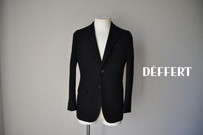 DSC06801 お客様のジャケットの紹介-ブラックニットジャージ ジャケット-