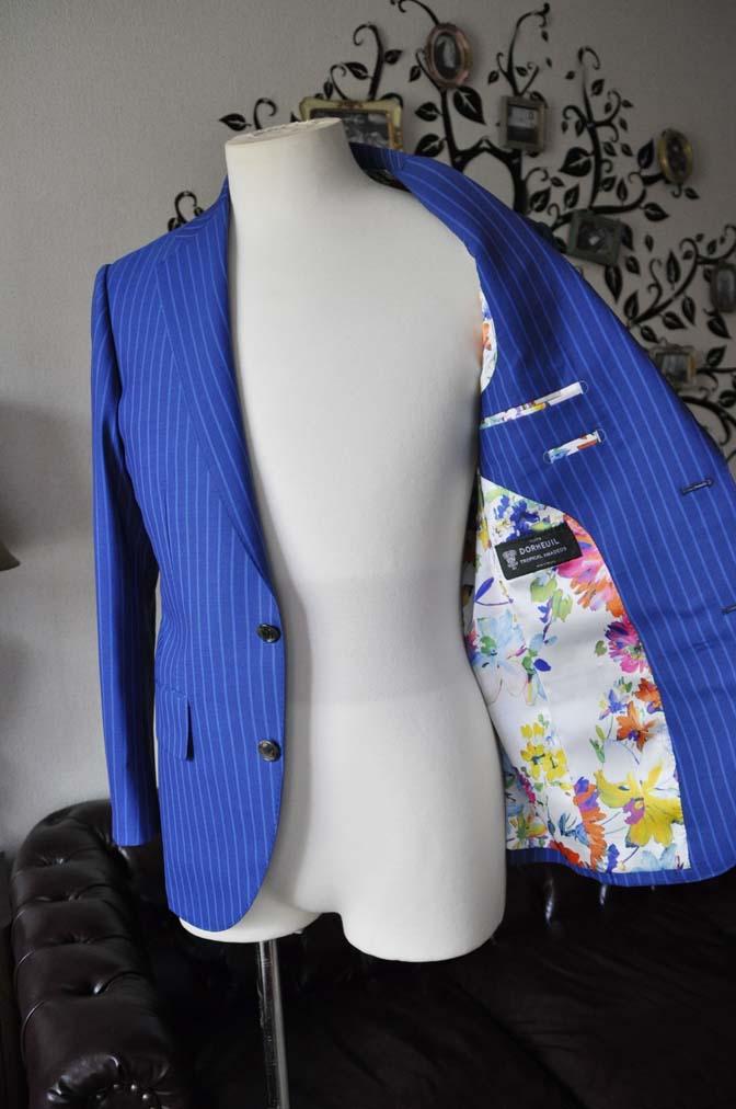 DSC0681-6 お客様のスーツの紹介-DORMEUIL ネイビーストライプ-