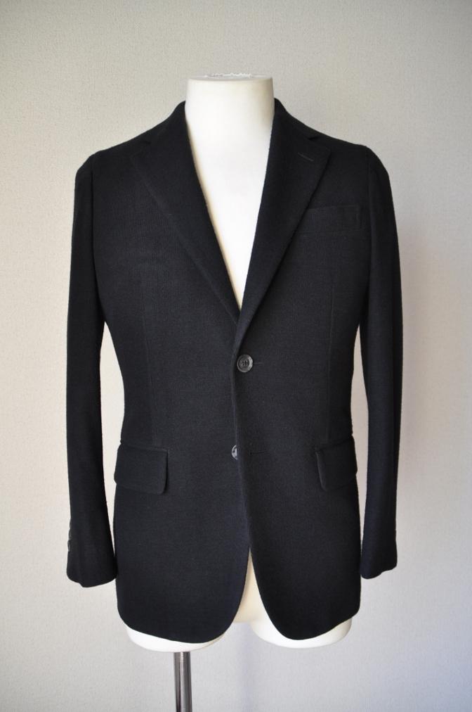DSC06812 お客様のジャケットの紹介-ブラックニットジャージ ジャケット-