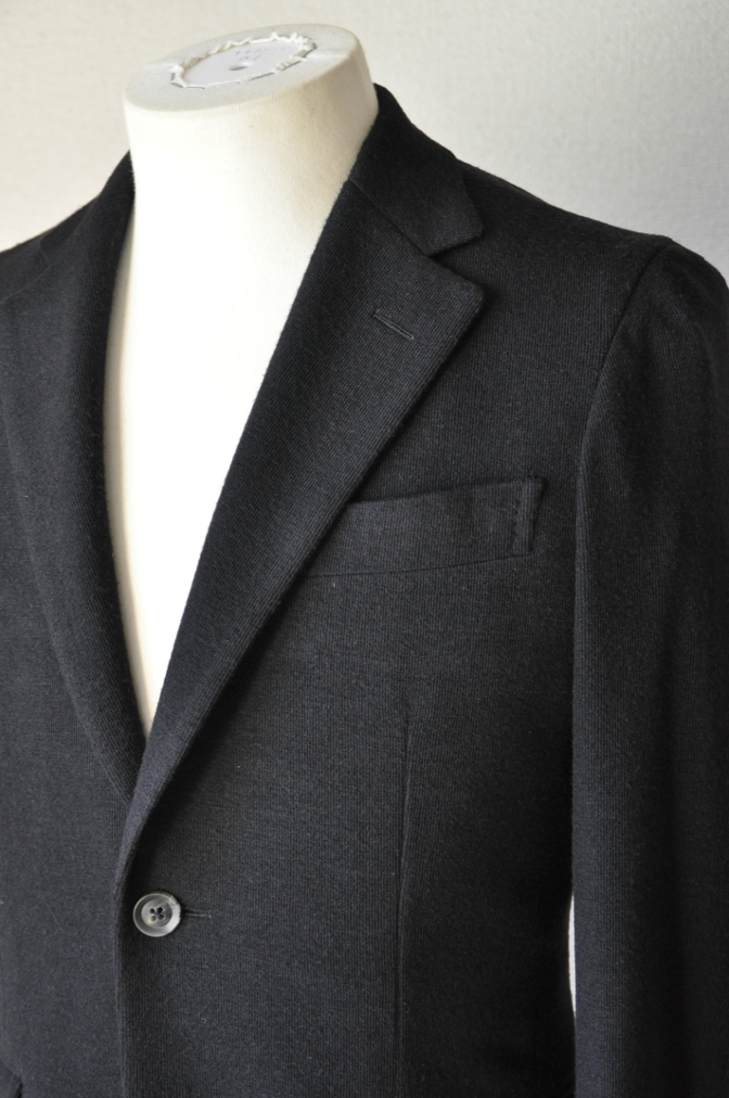 DSC06821 お客様のジャケットの紹介-ブラックニットジャージ ジャケット-