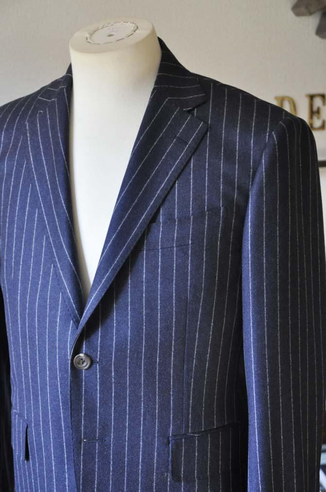 DSC0684-3 お客様のスーツの紹介-CANONICOネイビーストライプ フランネルスーツ-