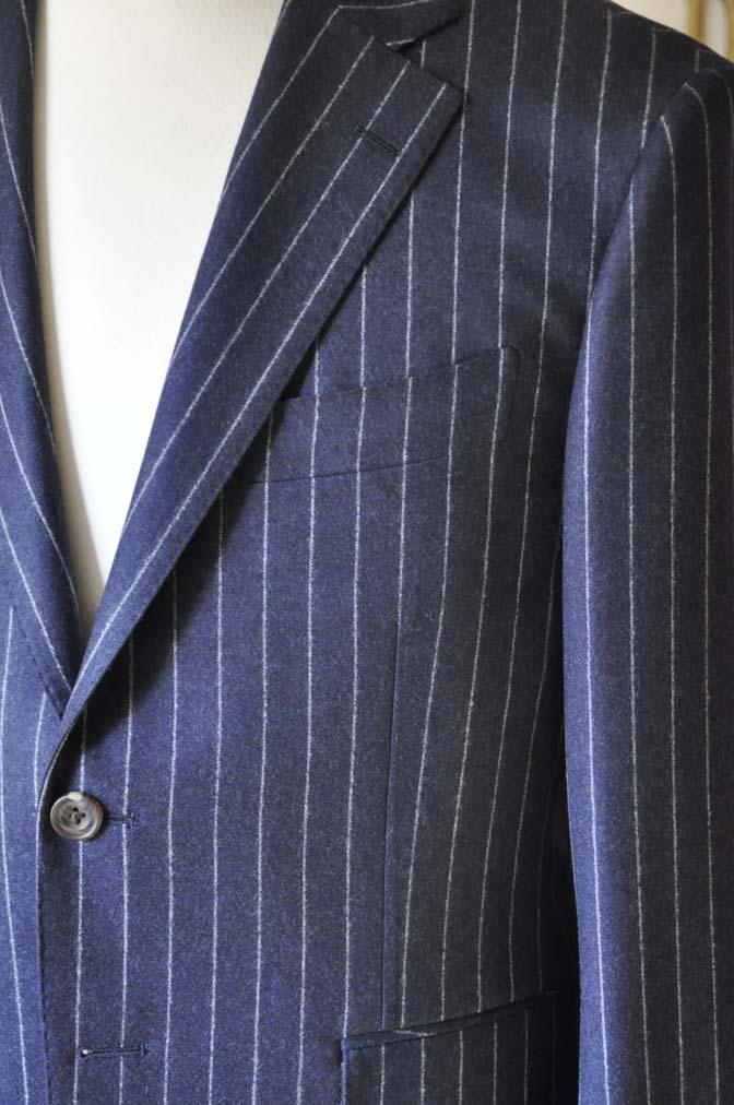 DSC0686-4 お客様のスーツの紹介-CANONICOネイビーストライプ フランネルスーツ-
