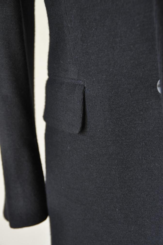 DSC06861 お客様のジャケットの紹介-ブラックニットジャージ ジャケット-