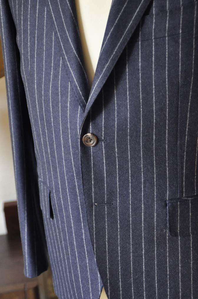 DSC0687-2 お客様のスーツの紹介-CANONICOネイビーストライプ フランネルスーツ-