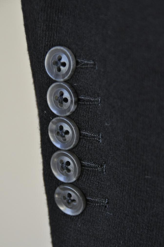 DSC06871 お客様のジャケットの紹介-ブラックニットジャージ ジャケット-