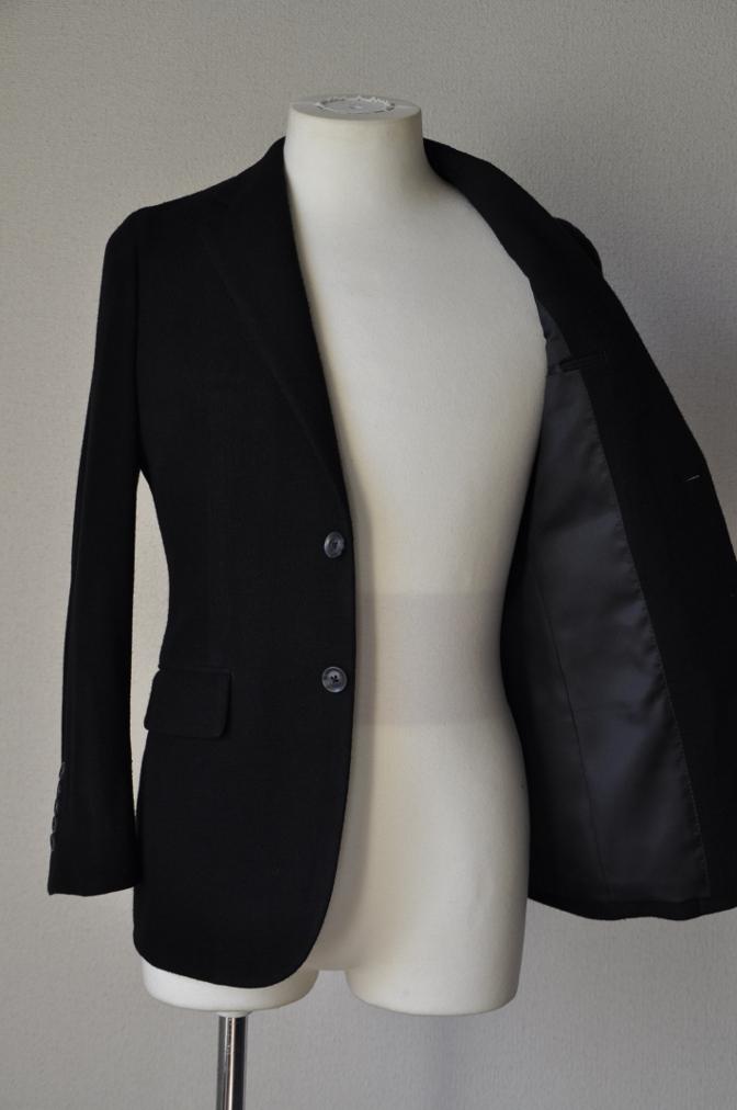 DSC06881 お客様のジャケットの紹介-ブラックニットジャージ ジャケット-