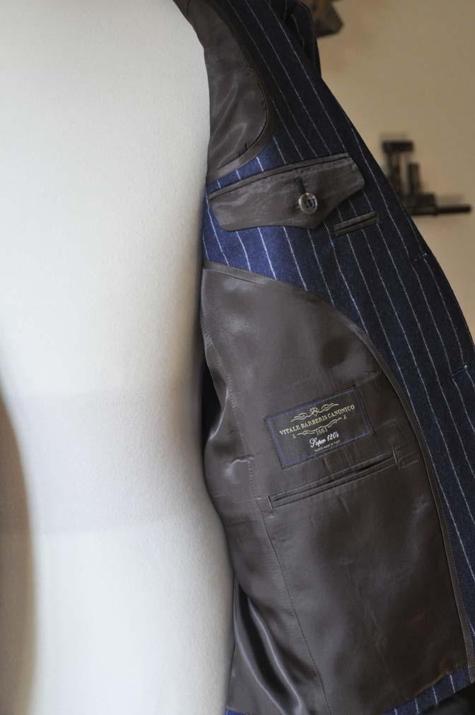 DSC0691-1 お客様のスーツの紹介-CANONICOネイビーストライプ フランネルスーツ-