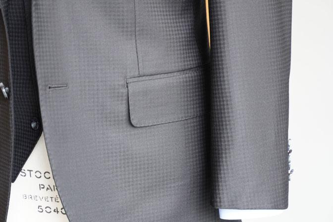 DSC06946 オーダースーツの紹介-MARLANEブラックブロックチェック スリーピーススーツ-