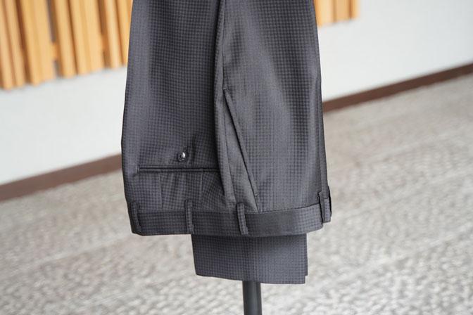 DSC06947 オーダースーツの紹介-MARLANEブラックブロックチェック スリーピーススーツ-