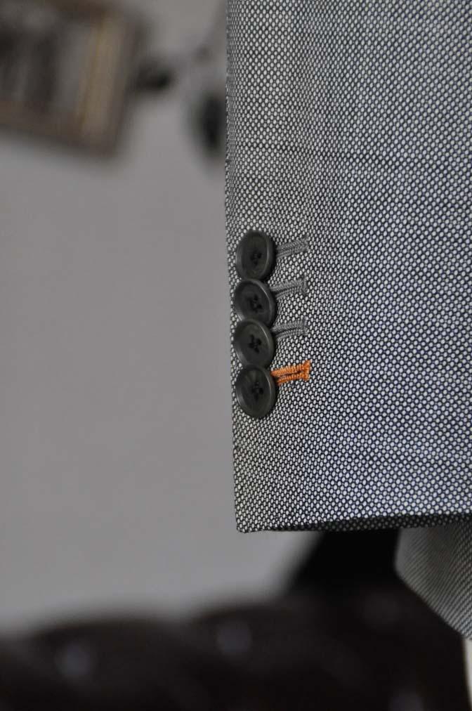 DSC0696-4 お客様のスーツの紹介-Tallia Di Delfino グレーバーズアイ ダブル襟付きジレスリーピース- 名古屋市西区那古野オーダースーツ専門店