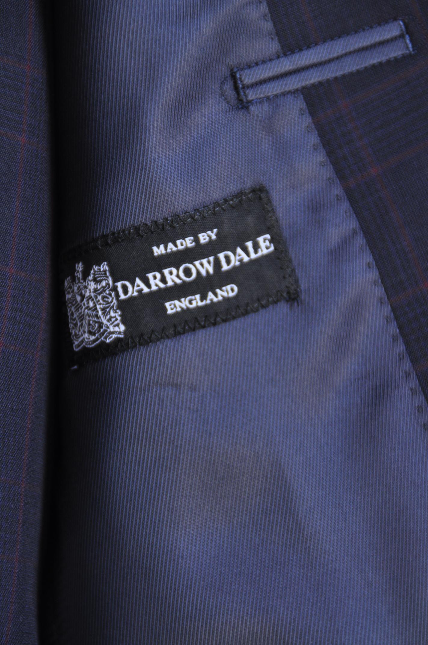 DSC0696 オーダースーツ- DARROW DALEネイビーチェック-