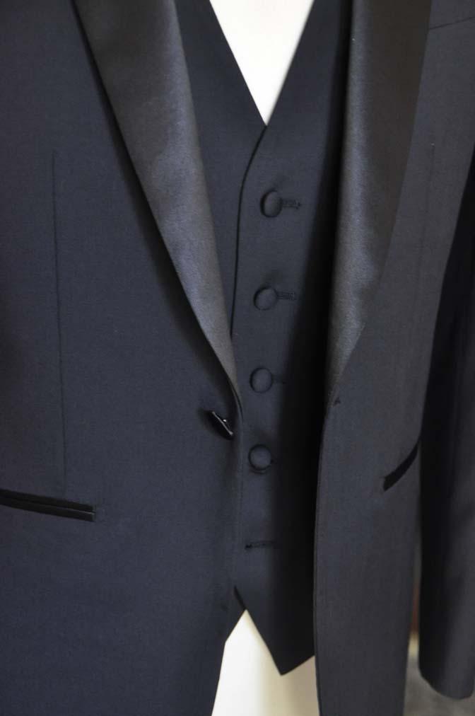 DSC06963 お客様のウエディング衣装の紹介-Biellesi ダークネイビーショールカラータキシード-