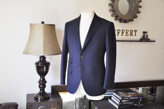 DSC0697-4 お客様のスーツの紹介-REDA ネイビーチェックスーツ-