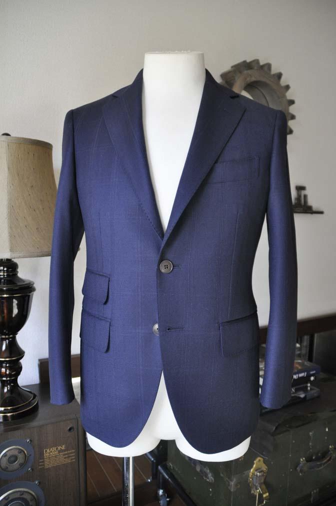 DSC0699-4 お客様のスーツの紹介-REDA ネイビーチェックスーツ-