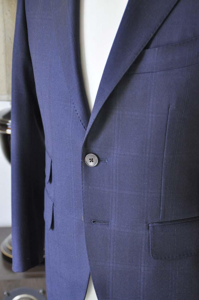 DSC0703-3 お客様のスーツの紹介-REDA ネイビーチェックスーツ-