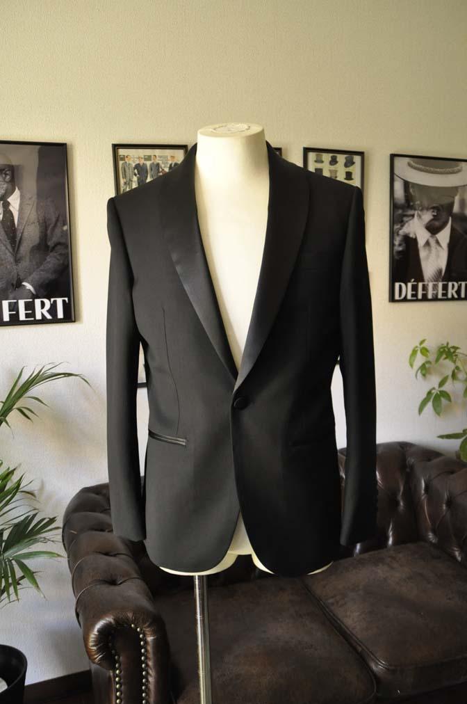 DSC07031 お客様のウエディング衣装の紹介-Biellesi ブラックショールカラータキシード-