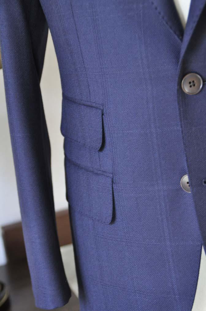 DSC0704-3 お客様のスーツの紹介-REDA ネイビーチェックスーツ-
