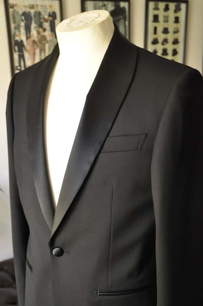 DSC07041 お客様のウエディング衣装の紹介-Biellesi ブラックショールカラータキシード-