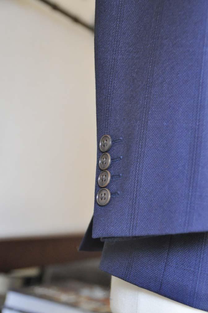 DSC0705-4 お客様のスーツの紹介-REDA ネイビーチェックスーツ-