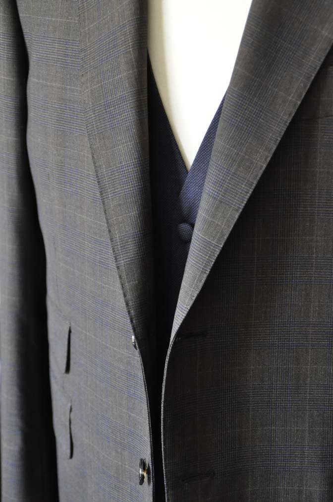 DSC0706-2 お客様のウエディング衣装の紹介- Biellesiブラウンチェックジャケット ネイビーベスト- 名古屋の完全予約制オーダースーツ専門店DEFFERT