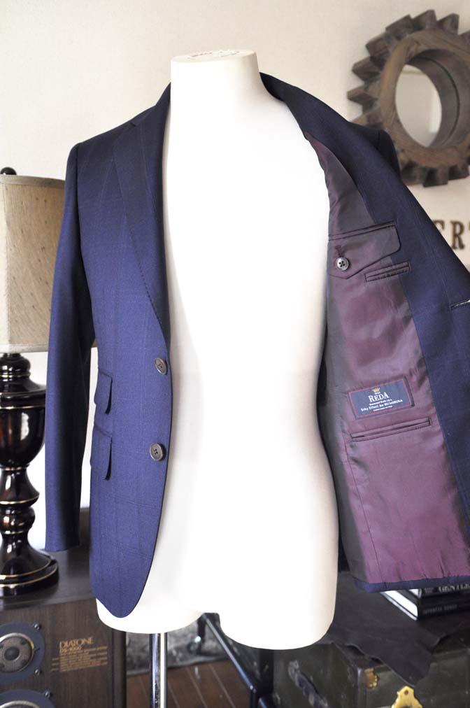 DSC0707-3 お客様のスーツの紹介-REDA ネイビーチェックスーツ-