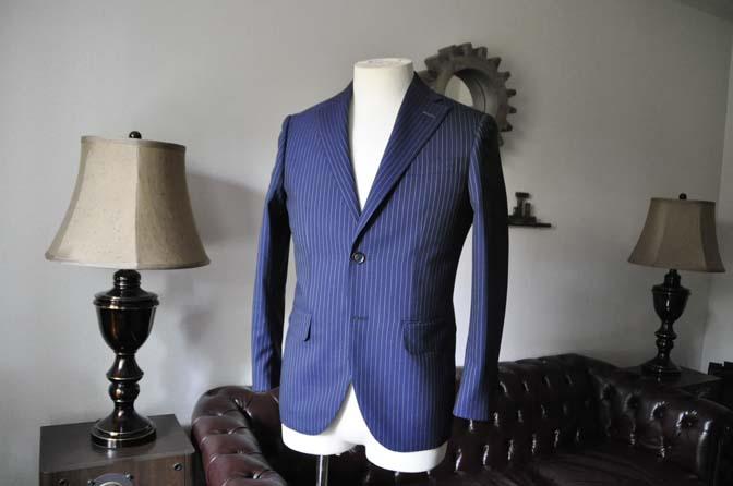 DSC0721-2 お客様のスーツの紹介-ネイビーストライプスーツ- 名古屋の完全予約制オーダースーツ専門店DEFFERT