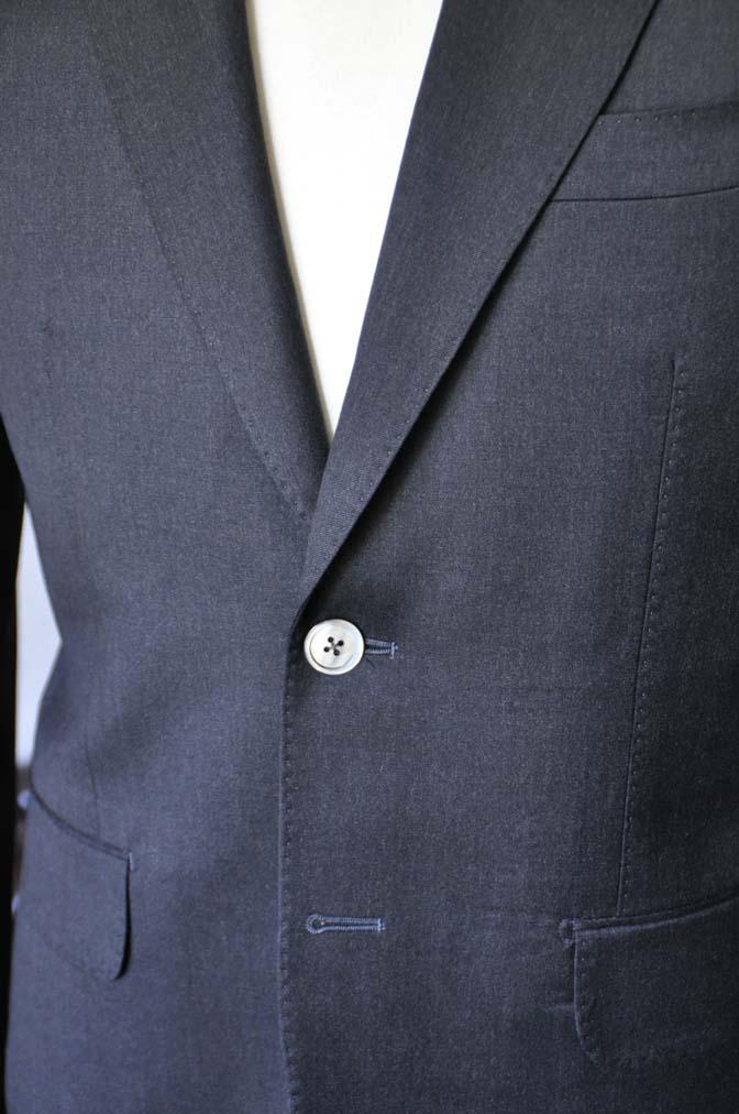 DSC0722-1 お客様のスーツの紹介- Biellesi 無地チャコールグレー-