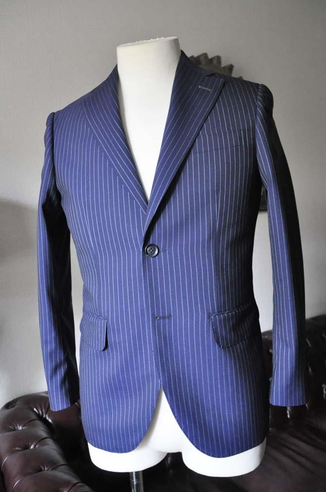 DSC0723-3 お客様のスーツの紹介-ネイビーストライプスーツ- 名古屋の完全予約制オーダースーツ専門店DEFFERT
