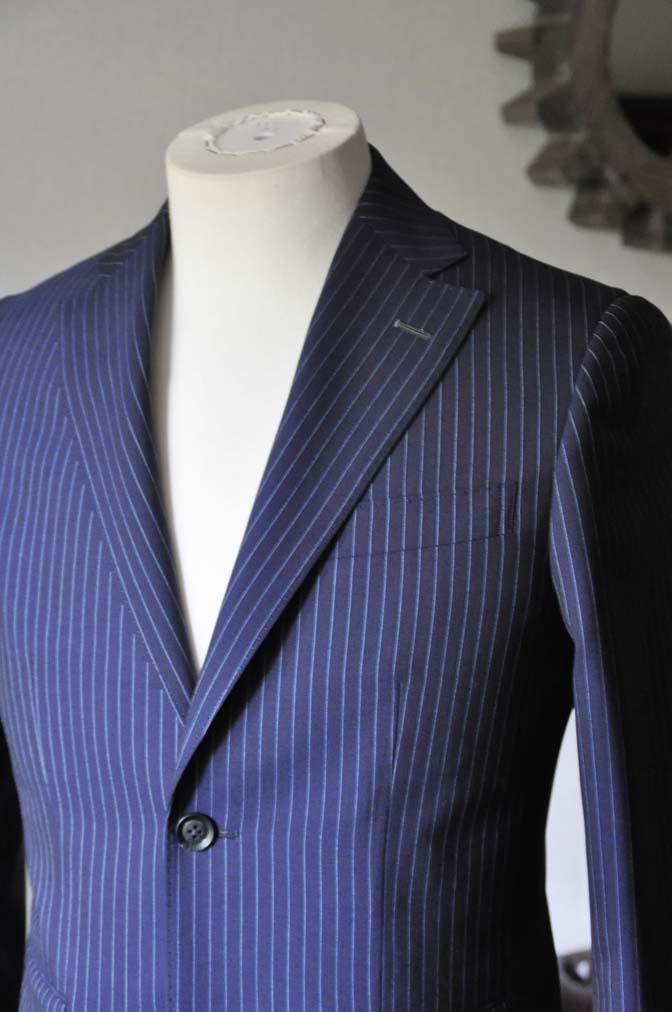 DSC0724-3 お客様のスーツの紹介-ネイビーストライプスーツ- 名古屋の完全予約制オーダースーツ専門店DEFFERT