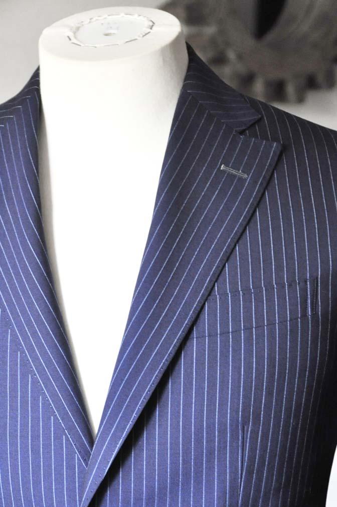DSC0725-1 お客様のスーツの紹介-ネイビーストライプスーツ- 名古屋の完全予約制オーダースーツ専門店DEFFERT