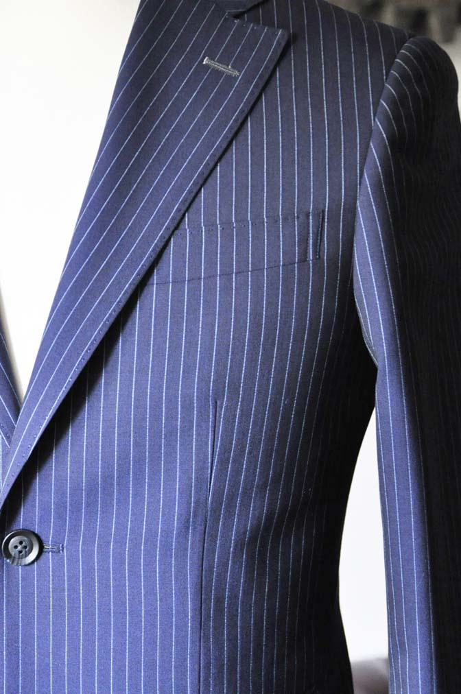 DSC0726-3 お客様のスーツの紹介-ネイビーストライプスーツ- 名古屋の完全予約制オーダースーツ専門店DEFFERT