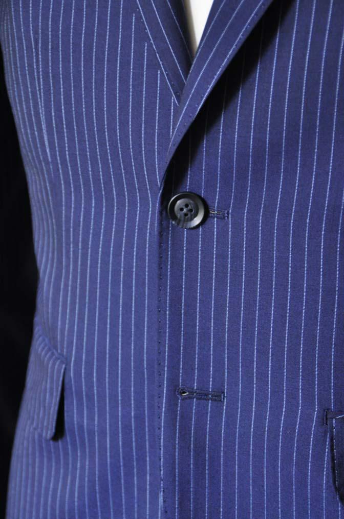 DSC0727-2 お客様のスーツの紹介-ネイビーストライプスーツ- 名古屋の完全予約制オーダースーツ専門店DEFFERT