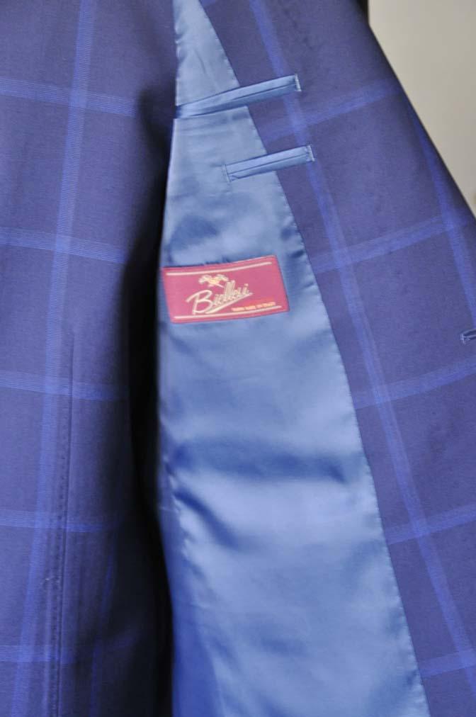 DSC0730-1 お客様のスーツの紹介- Biellesi ネイビーウィンドペン スリーピース-